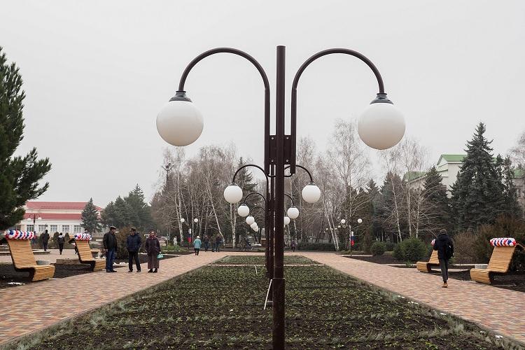 Открытие площади им.Ленина в городе Новопавловске